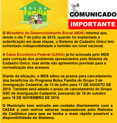 www bolsa família mds gov br